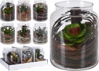Декоративно цвете в стъкленица
