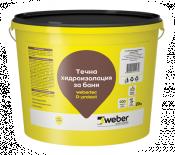 Готова за употреба хидроизолационна мембрана Webertec d-protect 20 кг