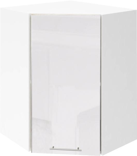 Крафт G17 горен ъглов с една врата 55см, бял гланц