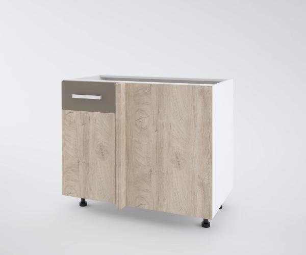 Urban долен шкаф с една врата и мъртво(50+50см) ляв, лате