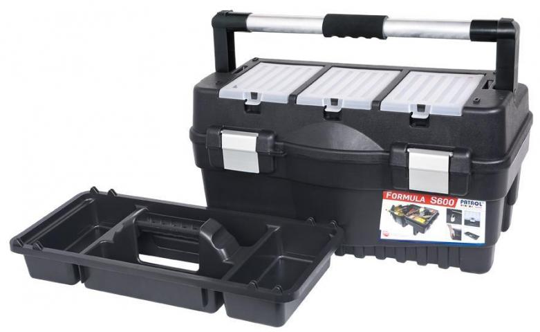 Куфар + органайзер Tool box Formula Alu S600