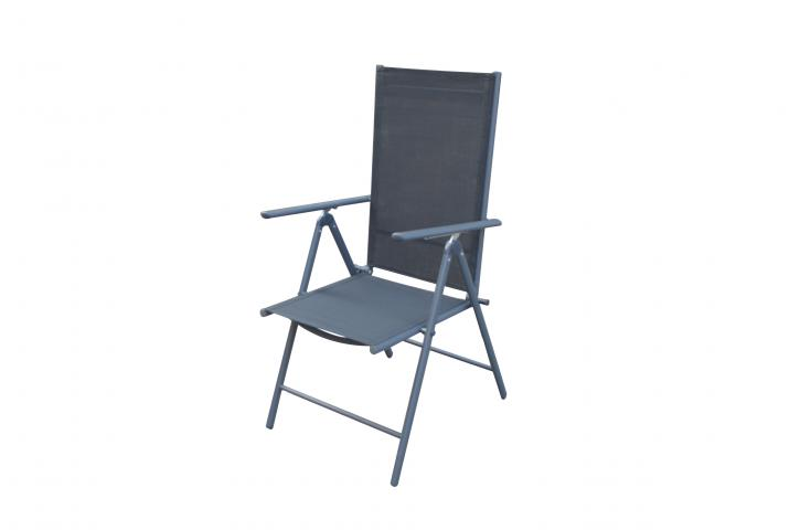 Градински стол MATERA мултипозиционен, черен