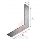 Планка L-образна 175х175х35 х2