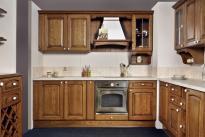 Дъблин горен шкаф с 2 стъклени врати и рафт и ниша 20см, 80х29х71.5