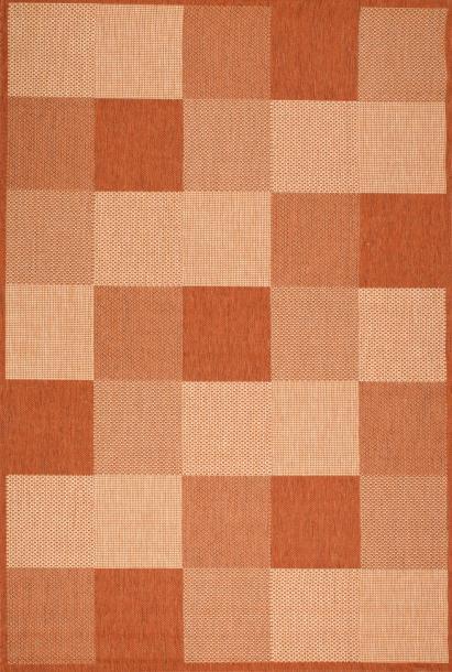 Килим Natura оранжево с геометрични фигури 2х2.9 м