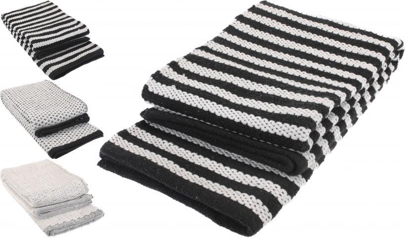 Килим черно-бял 90x60 см