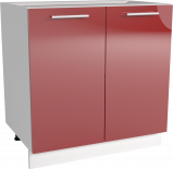 Трейси Шкаф долен Н 60х82 x56 см, червен