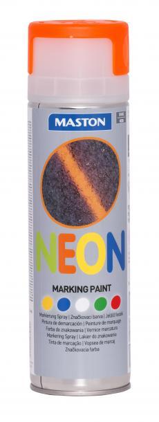 Спрей грунд за маркиране Maston 0.5л, неон оранж