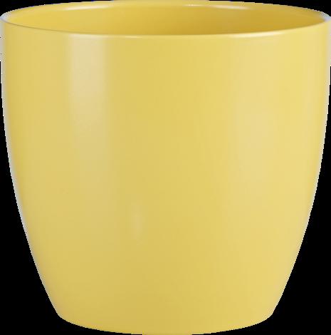 Кашпа жълта матирана