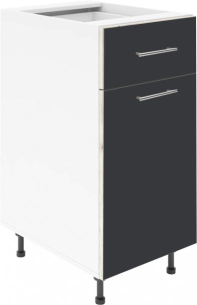 Крафт D2 долен шкаф с една врата и чекмедже 50см, антрацит
