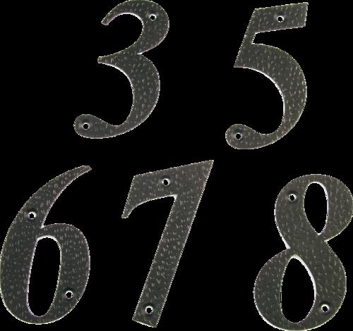Цифра 9-4'' черна / блистер