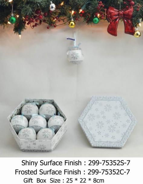 Снежни топки 75 мм бели