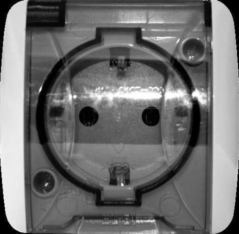 Контакт шуко с капак  EVA IP54