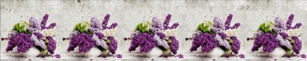 Принт гръб с цветя, код 011