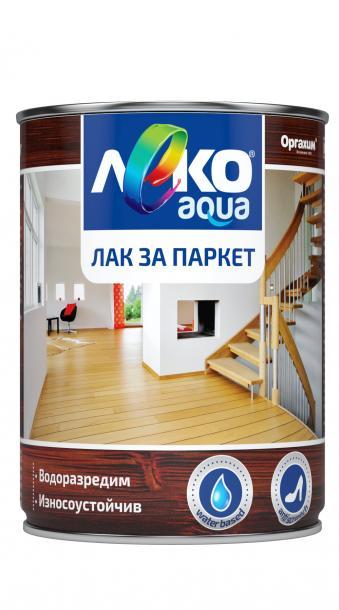 Паркетен лак Лeко Aqua 0.7л, безцветен гланц
