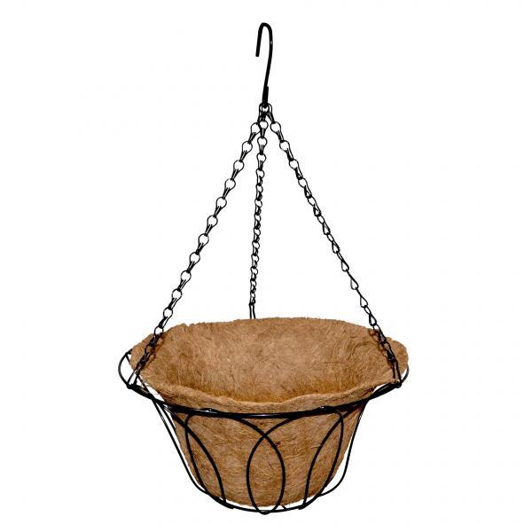 Кокосова саксия висяща Ф30.5, височина 45 см