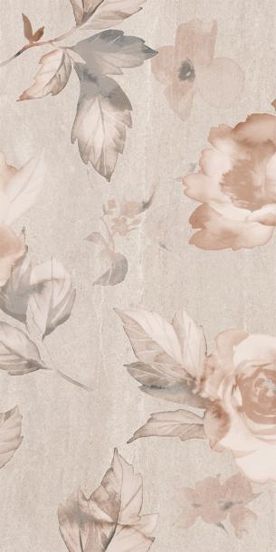 Декор комплект Калисто цветя Бежова 50х50