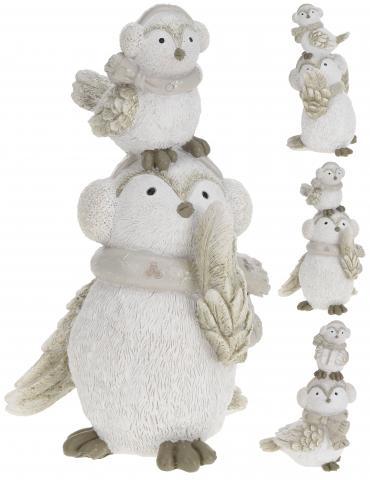 Фигурка 'Бяла сова с бебе'