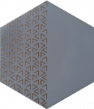 Декор Solid Triangle Grey 21.5x25
