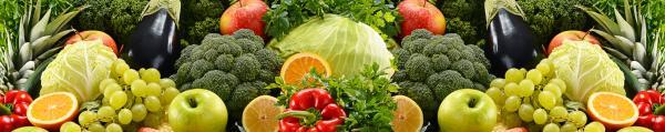 Принт гръб с плод и зеленчук , код 07
