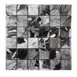 Стъклена мозайка сив/черен