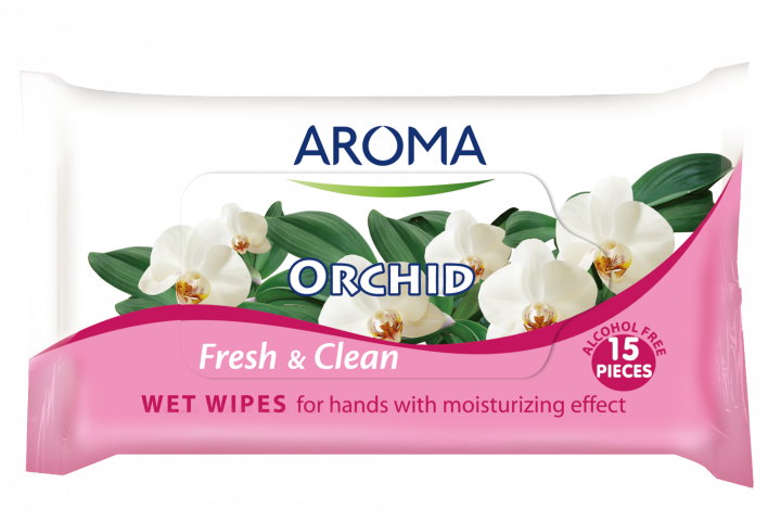 Мокри кърпички Aroma Fresh&Clean Orchid