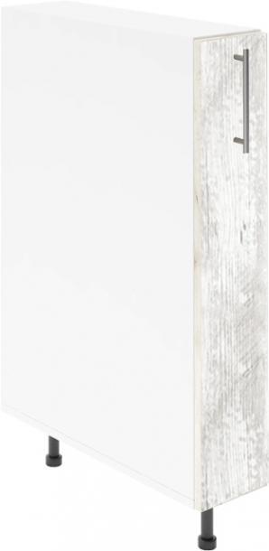 Крафт D14 шкаф с метална бутилиера 15см, антик