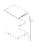 Талпи долен шкаф с врата 45х60х89