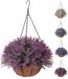 Висящо изкуствено цвете в саксия