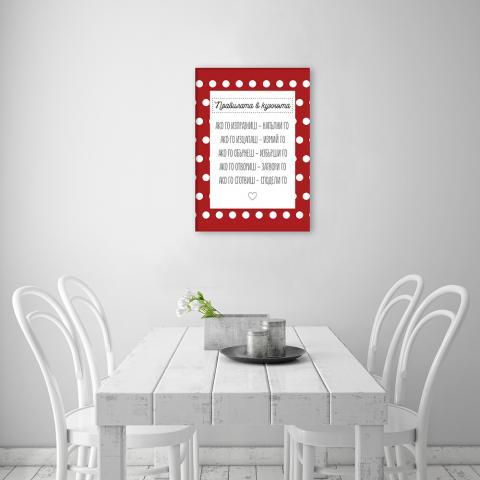 Картина с рамка ''Правилата в кухнята'' 2