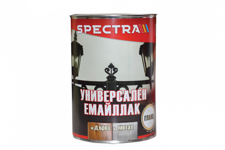 Емайллак Spectra Universal гланц 0.65л, св. кафяв