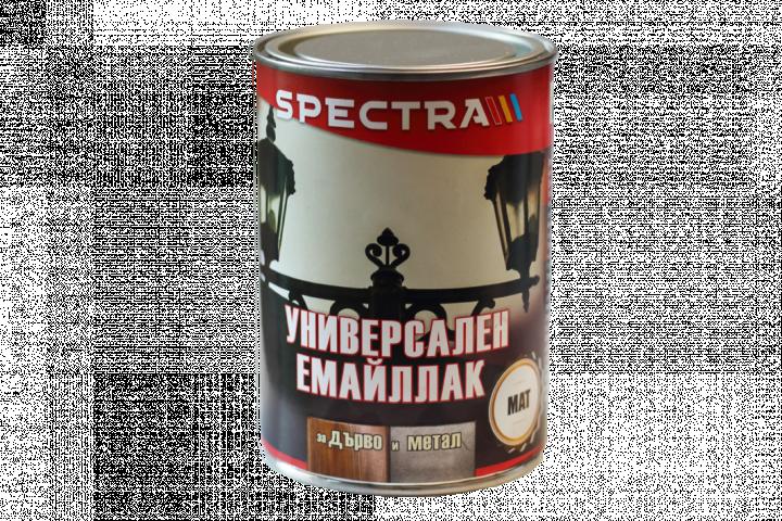 Емайллак Spectra Universal мат 0.65л, черен