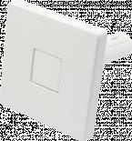 Закачалка-бутон бяла квадрат