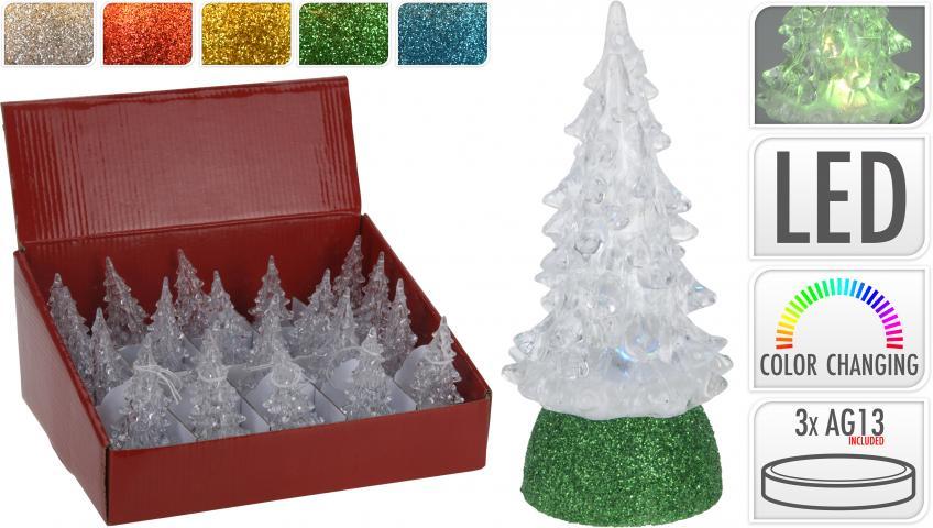 Коледно дръвче с LED светлини 10 см