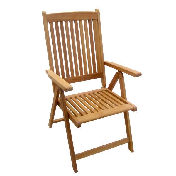 Дървен стол сгъваем с 5 позиции