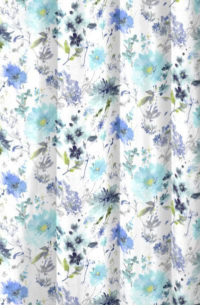 Перде Fabric FLORALES25 140 cm синьо