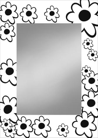 оглед с кант Blume бяло/черно