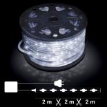 Светещ прозрачен маркуч бели LED