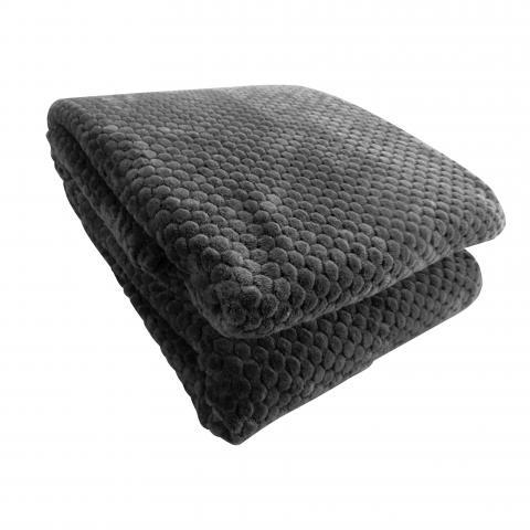 Жакардово одеяло сиво 200x220 см 2
