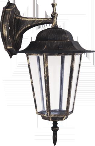 Външна лампа Spectra горен носач златна патина