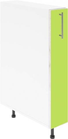 Крафт D14 шкаф с метална бутилиера 15см, зелен гланц