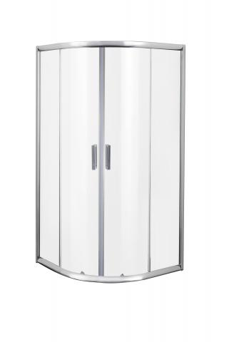 Овална душ кабина 90х90