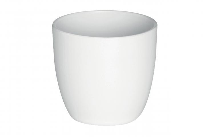 Кашпа Еми ф13.5 см бяла
