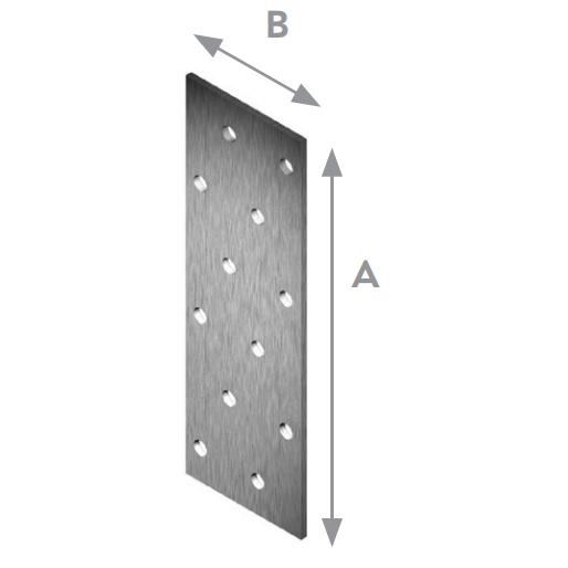 Планка плоска перфорирана 140х60х2