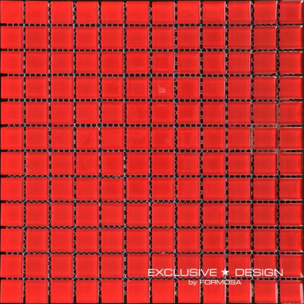 Стъклена мозайка 30х30 см червен
