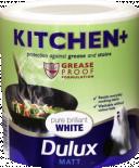 Интериорна боя DuluxMat за кухни 2.5л, брилянтно бяла