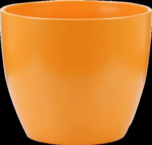 Кашпа оранжева матирана