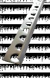 Външен ъгъл прав сребрo полиран 10мм/250см