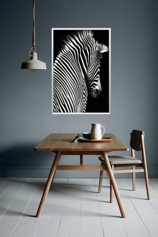 Картина с дървена рамка Premium ''Зебра'' 2