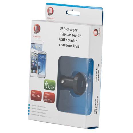 USB Зарядно 12/24V 1A